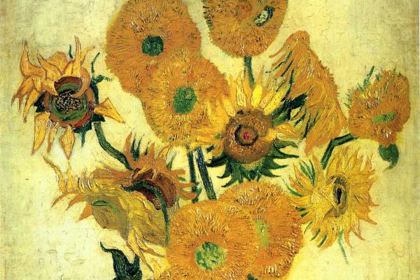 Винсент Ван Гог. Подсолнухи в вазе (Пятнадцать подсолнухов версия 1889 года)