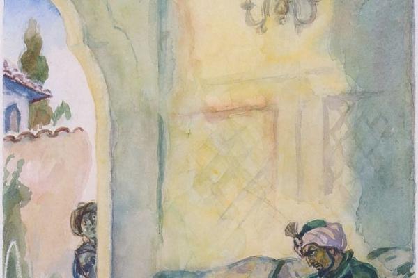 """Александр Павлович Могилевский. Хан Гирей. Иллюстрация к поэме А. С. Пушкина """"Бахчисарайский фонтан"""""""