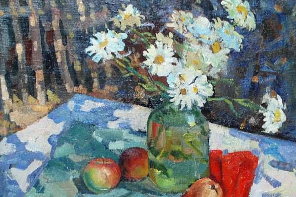Геннадий Григорьевич Зарубин. Натюрморт с фруктами. 1983