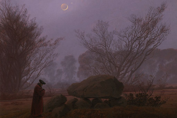 Caspar David Friedrich. A walk at dusk