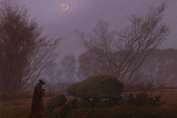 Каспар Давид Фридрих. A walk at dusk