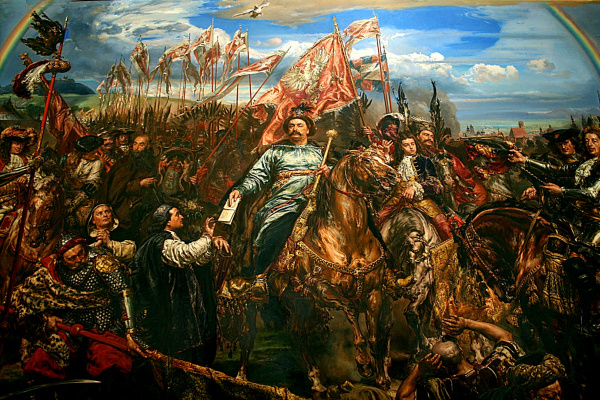 Jan Matejko. Jan III Sobieski sends a message to the Pope about victory in the Battle of Vienna (small version)