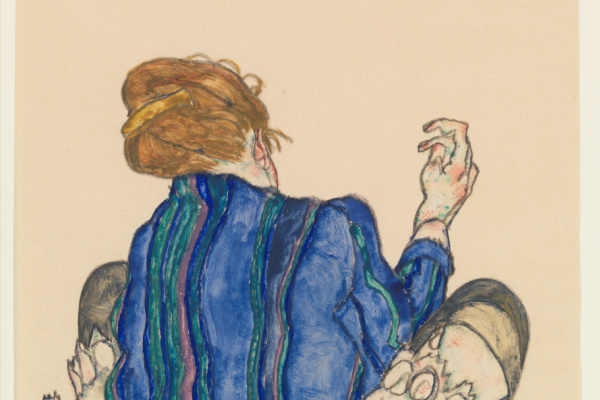 Egon Schiele. Seated Woman, Back View