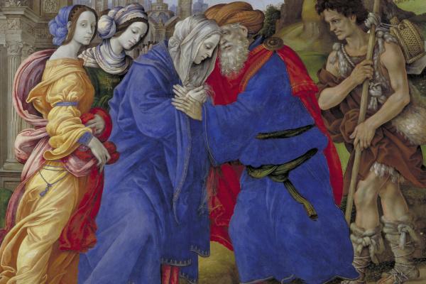 Фра Филиппо Липпи. Встреча Иоакима и Анны у Золотых ворот Иерусалима