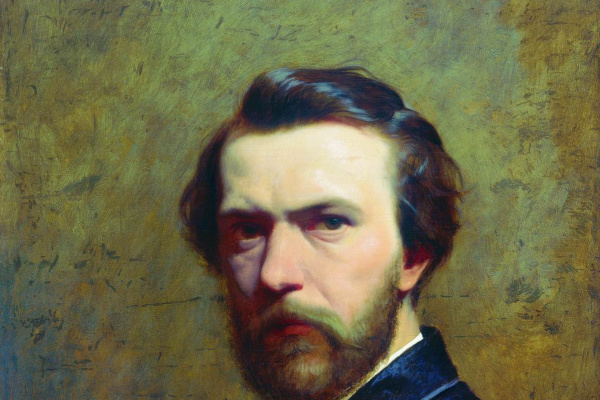 Fedor Andreevich Bronnikov. A self-portrait. The mid-1850s