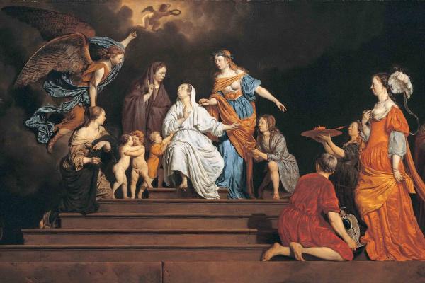 Adrian van de Velde. Allegory. Innocence between virtues and vices
