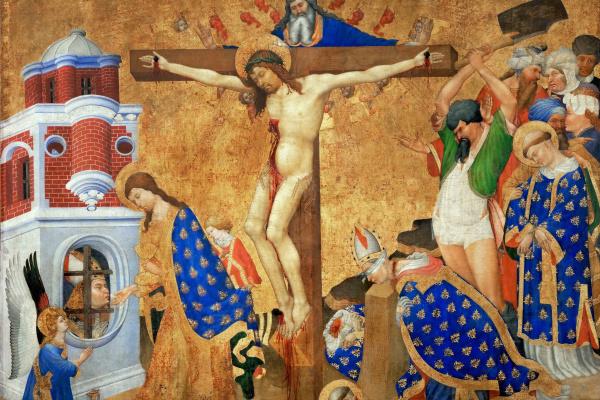 Анри Бельшоз. Алтарь Святого Дени. Последнее причастие и мученичество Святого Дени