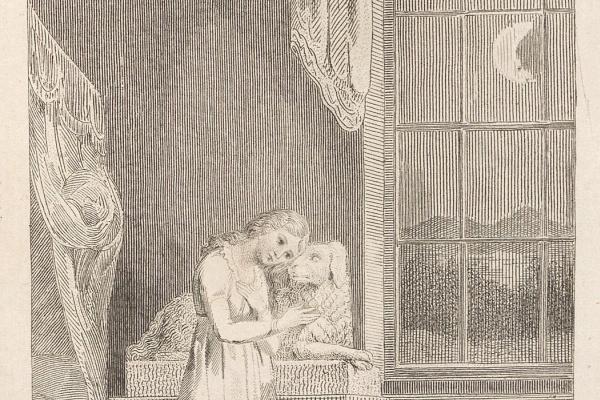 Уильям Блейк. Девушка с собакой. Иллюстрации к сборнику баллад Вильяма Хейли
