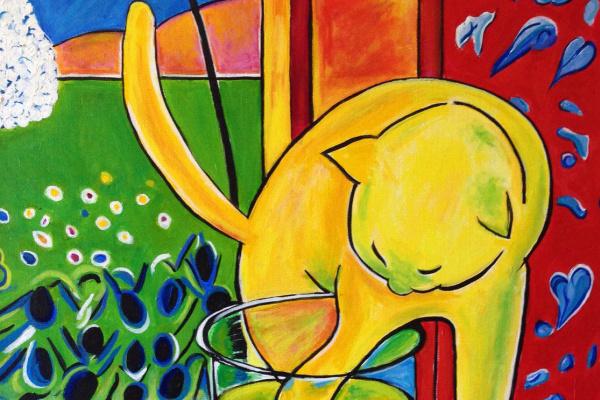 Анри Матисс. Кот и красные рыбки
