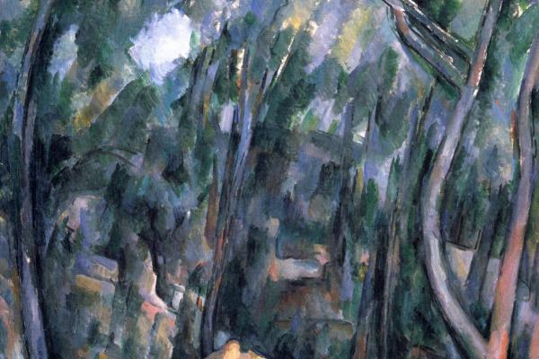 Поль Сезанн. Лес у скальных пещер над Чёрным замком