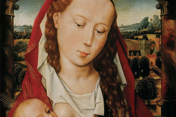 Hans Memling. Maria with a child
