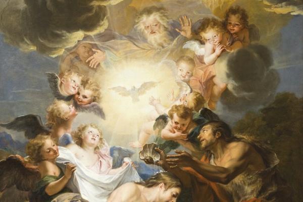 Антуан Куапель. Крещение Иисуса