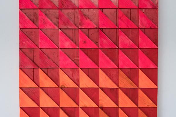 Koshtura Istvin. Object, square acid orange - red