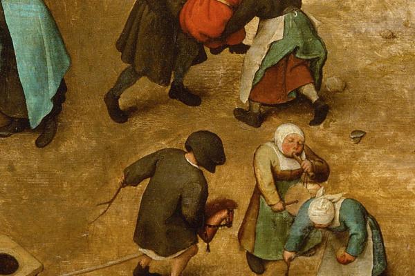 Pieter Bruegel The Elder. Children's games. Fragment 5