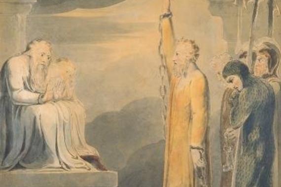 William Blake. St Paul before Felix and Drusilla