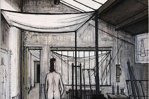 Bernard Buffet. Model in Studio