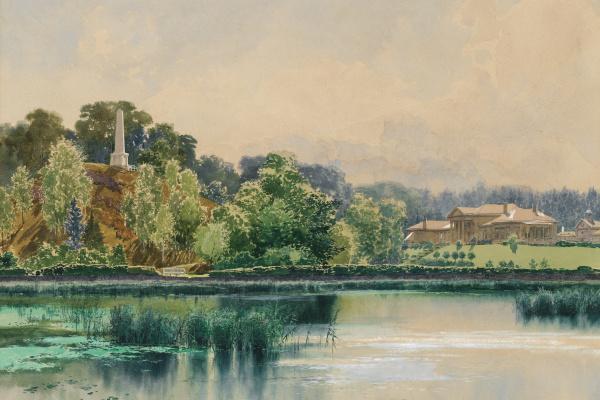 Franz Copallicus Austria 1860 - 1931. Park Mon Repos.