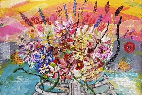 Alexandra Knabengoff. Цветы в груди Chest flower