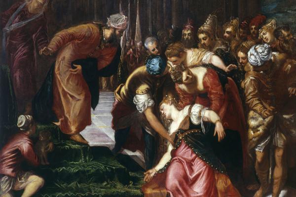 Jacopo Tintoretto. Esther before Artaxerxes
