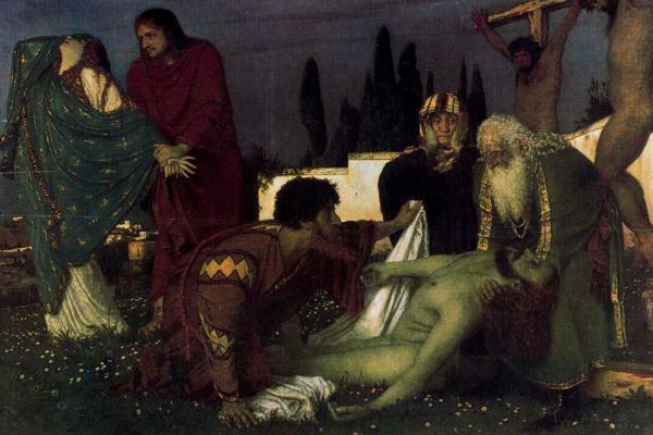 Arnold Böcklin. Mourning