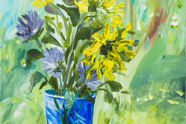 Татьяна Ласовская. Синяя ваза