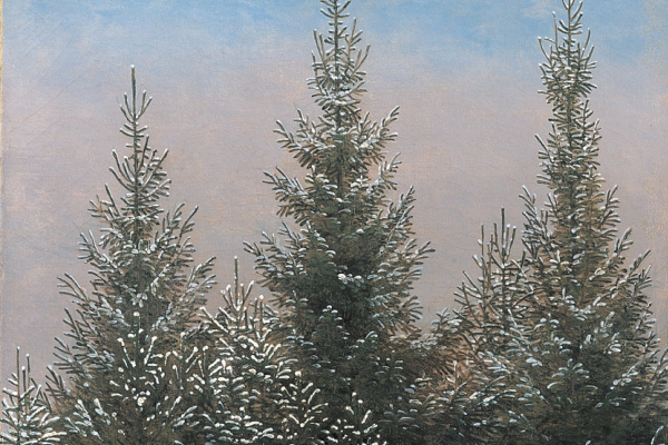 Caspar David Friedrich. Spruce thickets in the snow