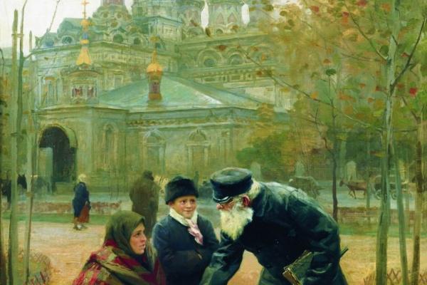 Николай Алексеевич Касаткин. Добрый дедушка. 1899