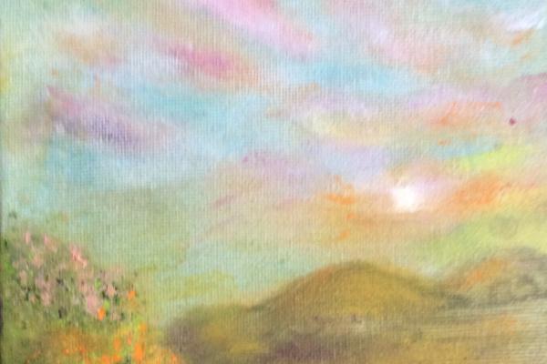 Рита Аркадьевна Бекман. Рассвет в Галилейских горах