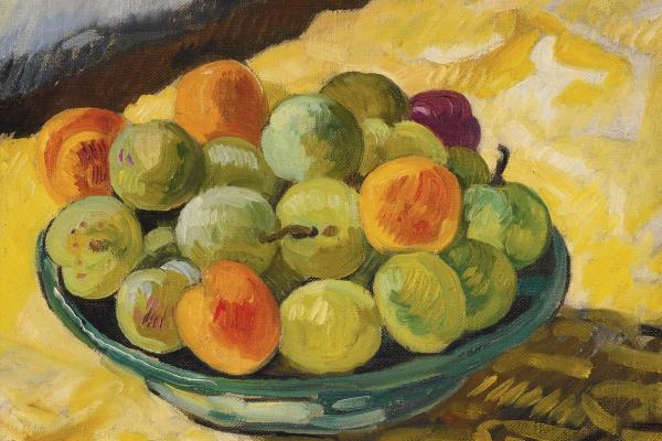 Луи Вальта. Блюдо слив.1920