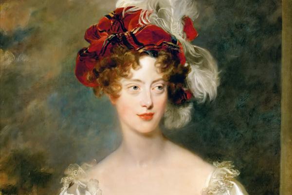 Thomas Lawrence. Portrait of Caroline Ferdinande of Bourbon-Two Sicilies, Duchess of Berry