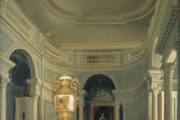 Karl Petrovich Beggrov. The oval hall of the Old Hermitage