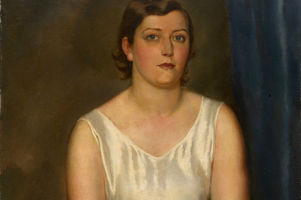 Леонид Исаакович Фрешкоп. Женский портрет. 1936