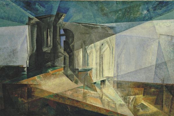 Lionel Feininger. Ruins by the sea