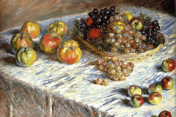 Клод Моне. Натюрморт с яблоками и виноградом