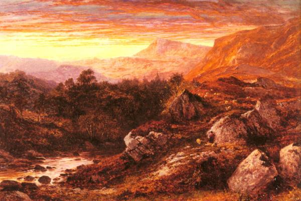 Бенджамин Уильямс Лидер. Долина  Северного Уэльса