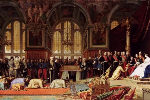 Жан-Леон Жером. Приём сиамских послов в Фонтенбло 27 июня 1861 года