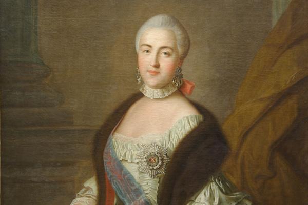 Иван Петрович Аргунов. Портрет великой княгини Екатерины Алексеевны. 1762