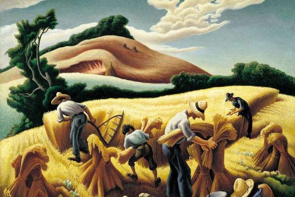 Thomas Hart Benton. The harvest of wheat