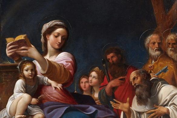 Лодовико Карраччи. Мадонна с Младенцем и святыми