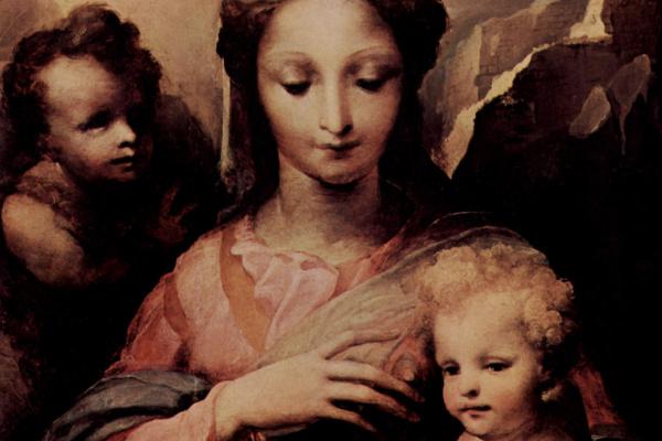 Domenico Beccafumi. Madonna and John the Baptist