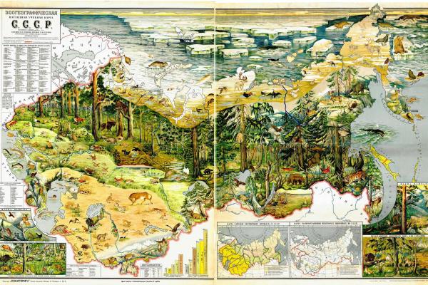 Н. М. Бучумов. Зоогеографическая карта