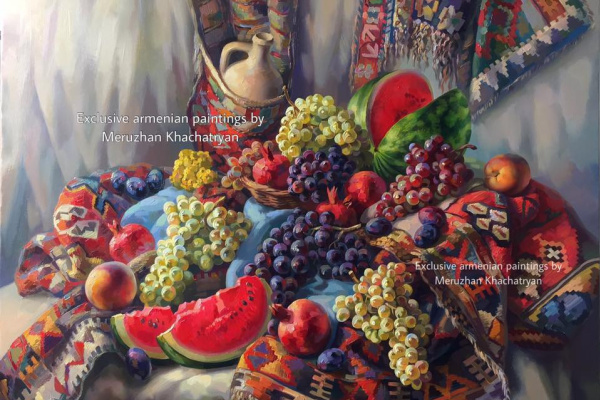 Meruzhan Khachatryan. Armenian still life with watermelon
