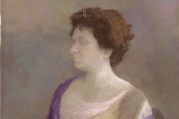 Одилон Редон. Женщина с цветочным корсажом