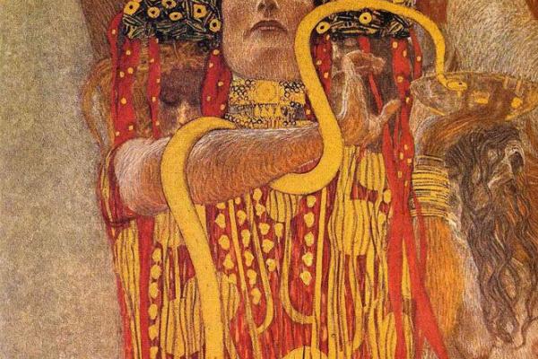 Густав Климт. Гигиея. Фрагмент картины «Медицина» (Роспись потолка для Венского Университета)