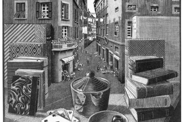 Maurits Cornelis Escher. Life on the street