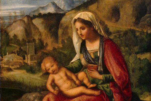 Джорджоне. Мадонна с Младенцем в пейзаже
