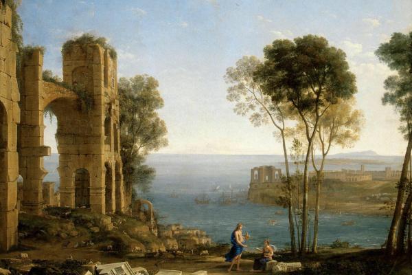Claude Lorrain. Landscape with Apollo and the cumaean Sibyl