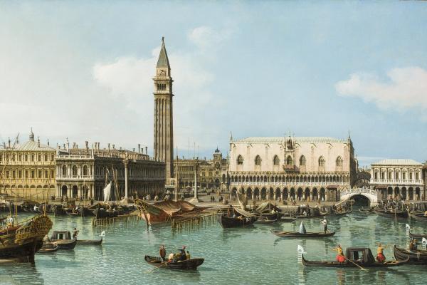 Бернардо Беллотто. Мол у Собора Сан-Марко. Венеция