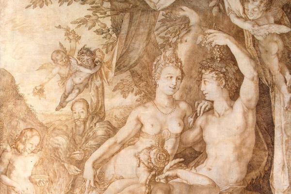Hendrik Goltzius. Bacchus, Venus and Ceres. 1606