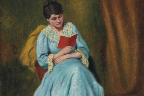 Federico Zandomenegi. A woman reading in blue